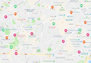 Travel to Barcelona Traista app local deals