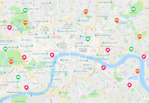 London map Traista app local deals and lost and found