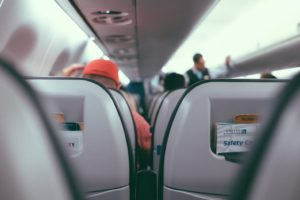 travel inside airplane traista